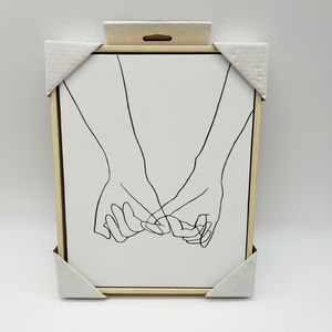 NEW!! Holding Hands Canvas Wall Art Black White